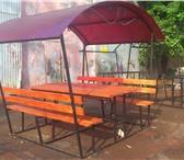 Изображение в Мебель и интерьер Мебель для дачи и сада Беседка Размер 1,76*1,86 стол и скамейки в Казани 13000