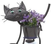 Foto в Домашние животные Растения Оригинальное кашпо для цветов  КотёнокМеталличе в Москве 1700