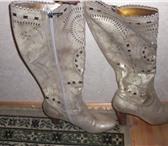 Фото в Одежда и обувь Женская обувь Продам итальянсикие сапожки,из натуральной в Сочи 5000