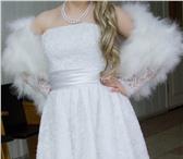 Фотография в Одежда и обувь Свадебные платья Короткое свадебное платье р. 44-46 в отличном в Новокузнецке 11000