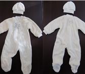 Фотография в Одежда и обувь Детская одежда Комбинезон комбинированный вязанка + плюшевая в Хабаровске 1600
